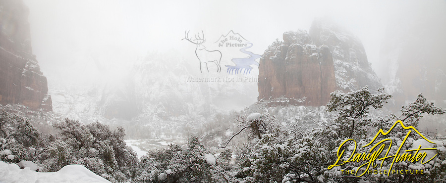 Big Bend, Winter, Zion Canyon, Zion National Park,