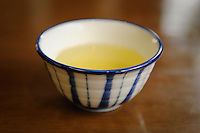 A cup of green tea, Uji city, Kyoto prefecture, Japan, July 31, 2006.