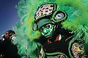 Mardi Gras Indian on Super Sunday, 2004