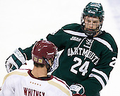 Andy Simpson (Dartmouth - 24) - The Boston College Eagles defeated the visiting Dartmouth College Big Green 6-3 (EN) on Saturday, November 24, 2012, at Kelley Rink in Conte Forum in Chestnut Hill, Massachusetts.