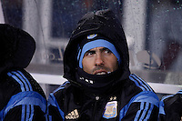 Argentina soccer player Carlos Tevez attends a friendly match between Argentina and Ecuador in New Jersey. 03.31.2015. Kena Betancur / VIEWpress.