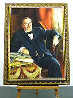 Reproduction of Anders Zorn's (1860-1920)<br /> Stephen Grover Cleveland (1837-1908). <br /> Twenty-second and twenty-fourth President of the United States. 1899. Oil on canvas, 121.9 x 91.4 cm. Location: National Portrait Gallery, Smithsonian Institution, Washington  DIGITAL REPRODUCTION FRAMED SIZE:55 3/4&quot; x 43 3/4&quot; Stretcher Size without frame 48&quot; x 36&quot;  Portrait from the National Portrait Gallery