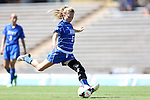 30 August 2013: Duke's Kaitlyn Kerr. The Duke University Blue Devils played the Kennesaw State University Owls at Fetzer Field in Chapel Hill, NC in a 2013 NCAA Division I Women's Soccer match. Duke won 1-0.