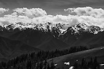 Spectacular clouds piled against the peaks on Hurricane Ridge, Olympic National Park