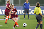 05 November 2008: Virginia Tech's Emily Jukich (10). Virginia Tech and Florida State University played to a 0-0 tie after two overtimes at Koka Booth Stadium at WakeMed Soccer Park in Cary, NC in a women's ACC tournament quarterfinal game.  Virginia Tech advanced to the semifinal round in penalty kicks, 4-2.