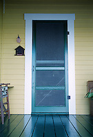 Front screen door and porch