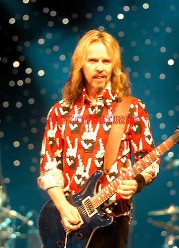 Tommy Shaw of Styx..at Alice Cooper's Christmas Pudding show to benefit his Solid Rock Foundation for children, Dodge Theatre in Phoenix, December 17th 2005...Photo by Chris Walter/Photofeatures