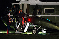 United States President Barack Obama salutes as he walks off Marine One on the South Lawn of the White House in Washington, D.C., U.S., on Monday, Nov. 21, 2016. President Obama is returning from his final foreign trip that included meetings and summits in Greece, Germany and Peru. <br /> Credit: Andrew Harrer / Pool via CNP /MediaPunch