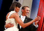 Washington, DC - January 20, 2009 -- United States President Barack Obama and his wife Michelle dance at the Obama Homes States Ball, one of ten official inaugural balls January 20, 2009 in Washington DC.  Obama was sworn in as the 44th President of the United States today, becoming the first African-American to be elected to the presidency.  .Credit: Mark Wilson - Pool via CNP
