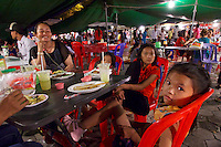 Phnom Penh, Cambodia. Night Market. Snacks.