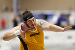NAPERVILLE, IL - MARCH 11: Jon Rogers of SUNY Brockport competes in the shot put at the Division III Men's and Women's Indoor Track and Field Championship held at the Res/Rec Center on the North Central College campus on March 11, 2017 in Naperville, Illinois. (Photo by Steve Woltmann/NCAA Photos via Getty Images)