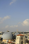 Israel, Jerusalem, the domes and bell tower of the Church of the Holy Sepulchre