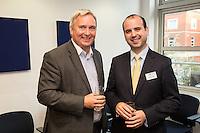 John Harris of Officeteam (left) with Simon Curtis of Potter Clarkson