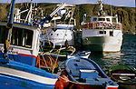Fishing boats moored in Los Cristianos, Tenerife.  Canary Islands,Spain