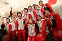 Japanese Artistic Gymnastics team member (JPN), July 2, 2011 - Artistic Gymnastics : Japanese Artistic Gymnastics team member pose for media during the Send-off Ceremony for the London Olympic in Tokyo, Japan.   (Photo by Yusuke Nakanishi/AFLO SPORT)