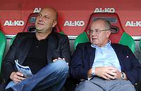 FUSSBALL   1. BUNDESLIGA  SAISON 2011/2012   1. Spieltag FC Augsburg - SC Freiburg            06.08.2011 Sportdirektor Dirk Duffner, Praesident Fritz Keller  (v. li., SC Freiburg)