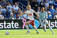 Red Bulls defender Tim Ream (5) in action... Sporting Kansas City defeated New York Red Bulls 2-1 at LIVESTRONG Sporting Park, Kansas City, Kansas.