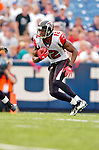 25 September 2005: Michael Jenkins (12), Wide Receiver for the Atlanta Falcons, returns a kickoff during a game against the Buffalo Bills. The Falcons defeated the Bills 24-16 at Ralph Wilson Stadium in Orchard Park, NY.<br /><br />Mandatory Photo Credit: Ed Wolfstein.
