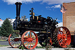 Old Steam Train Colton Eastern Washington State USA.
