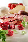 Beef Chunks, Salami, raw sausages &amp; ham plus buffalo mozerella &amp; Cheddar on marble