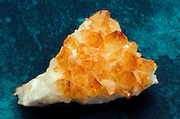 CITRINE<br /> A Yellow to Orange Brown Quartz Variety<br /> (Variations Available)<br /> This citrine specimen is from Brazil and was likely heat treated. Citrine rarely occurs naturally and is often heat-treated amethyst or smokey rock quartzes. Citrine and Topaz are cosmetically identical but vary in hardness.