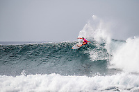 BELLS BEACH, Victoria/AUS (Monday, April 1, 2016) Carissa Moore (HAW) - Action at the Rip Curl Pro Bells Beach, the second stop on the World Surf League (WSL) Championship Tour (CT), continued today with Round Four and two heats of Round Five. <br /> In the Women's event they finished the whole contest with Courtney Conlogue (USA) taking out his first bells win when she defeated Sally Fitzgibbons (AUS) in the 40 minute final. <br /> Conditions were virtually perfect fro most of the day before a strong North West wind put  some bump on the faces late in the day<br /> The swell was in the 4'-6' range breaking through the Bells Bowl.<br /> <br /> Bells Beach has been hosting surfing tournaments for more than 50 years now, making it the most renowned spot on the raw and rugged southern coast of Victoria, Australia. The list of  Rip Curl Pro event champions is a veritable who's who of surfing icons, including many world champions.<br /> <br /> Surfing's greats have a way of dominating Bells. Mark Richards, Kelly Slater, and Mick Fanning all have four Bells trophies; Michael Peterson and Sunny Garcia, three; While Simon Anderson, Tom Curren, Joel Parkinson, Andy Irons, and Damien Hardman each grabbed a pair.<br /> <br /> The story is similar on the women's side. Lisa Andersen and Stephanie Gilmore have four Bells titles; Layne Beachley and Pauline Menczer, three; while Kim Mearig and Sally Fitzgibbons each have two.<br /> <br /> The 2016 event is about to kick off tomorrow and there was a packed warm up session at Bells this morning. <br /> Photo: joliphotos.com