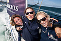 10th August 2011. Cowes. Isle of Wight..Pictures Showing Zara Phillips, Natalie Pinkham and Dee Caffari onboard Artemis Ocean Racing, skippered by record-breaking yachtswoman Dee Caffari, during The Artemis Challenge round the Island race...Aberdeen Asset Management Cowes Week 2011...Credit: Lloyd Images.