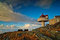 Fjøløy lighthouse at Fjøløy, Norway.