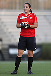 20 September 2012: Maryland's Rachelle Beanlands (CAN). The University of Maryland Terrapins played the Duke University Blue Devils to a 2-2 tie after overtime at Koskinen Stadium in Durham, North Carolina in a 2012 NCAA Division I Women's Soccer game.