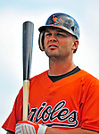 6 March 2009: Baltimore Orioles' shortstop Scott Moore prepares to take batting practice prior to a Spring Training game against the Washington Nationals at Fort Lauderdale Stadium in Fort Lauderdale, Florida. The Orioles defeated the Nationals 6-2 in the Grapefruit League matchup. Mandatory Photo Credit: Ed Wolfstein Photo
