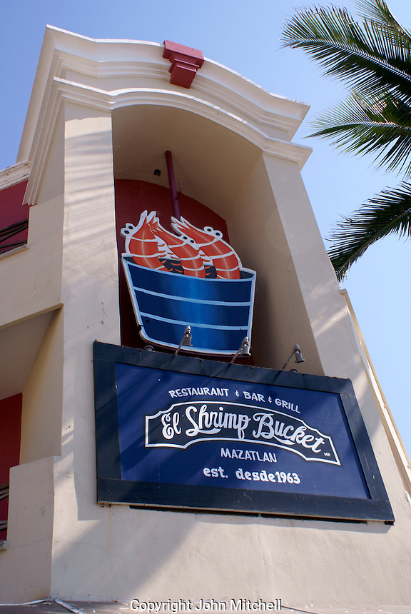 The Shrimp Bucket restaurant in Old  Mazatlan, Sinaloa, Mexico