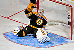 24 January 2009: Boston Bruins goaltender Tim Thomas gives one up to Montreal Canadiens right wing forward Alexei Kovalev in the first round of the Elimination Shootout of the NHL SuperSkills Competition, during the All-Star Weekend at the Bell Centre in Montreal, Quebec, Canada. ***** Editorial Sales Only ***** Mandatory Photo Credit: Ed Wolfstein Photo