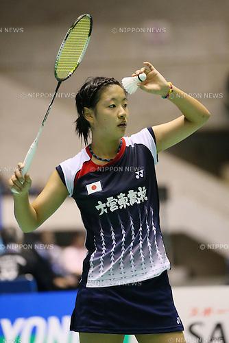 Nozomi Okuhara (JPN), .SEPTEMBER 20, 2012 - Badminton : .Yonex Open Japan 2012 .Women's Singles .at 1st Yoyogi Gymnasium, Tokyo, Japan. .(Photo by YUTAKA/AFLO SPORT) [1040]