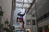 Sony Plaza Public Arcade, Spiderman, Sony Building, designed by Phlilp Johnson & John Burgee, Midtown, Madison Ave, New York, New York