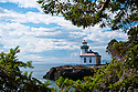Lime Kiln Lighthouse, Lime Kiln State Park, San Juan Island, Washington.