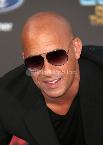 "HOLLYWOOD, CA - April 19: Vin Diesel, At Premiere Of Disney And Marvel's ""Guardians Of The Galaxy Vol. 2"" At The Dolby Theatre  In California on April 19, 2017. Credit: FS/MediaPunch"