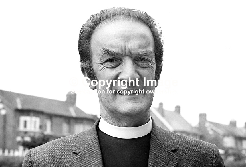 Rev Donald Gillies, minister, Agnes Street Presbyterian Church, Belfast, N Ireland, July, 1971, 197107000275<br />