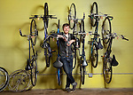 Jonathan Youngman is a coordinator at Franklinton Cycle Works.(Jodi Miller/Alive)
