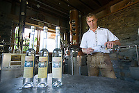 Kaprun, Salzburgerland, Austria, September 2008. Toni Rattensberger in his farmers distillery where his family distills quality schnapps.  Photo by Frits Meyst/Adventure4ever.com