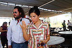 Producer Pablo Cruz and America Ferrera on the set of Chavez filming on location in 30 minutes from the Mexican capital on the coast of Hermosillo. June 5, 2012. Credit: Baldemat de los Llanos/NortePhoto/MediaPunch Inc. ***NO MEXICO**NO SPAIN**NO GERMANY**NO AUSTRIA***