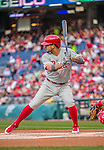 22 May 2015: Philadelphia Phillies infielder Freddy Galvis stands at bat during a game against the Washington Nationals at Nationals Park in Washington, DC. The Nationals defeated the Phillies 2-1 in the first game of their 3-game weekend series. Mandatory Credit: Ed Wolfstein Photo *** RAW (NEF) Image File Available ***