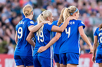 Boston, MA - Friday May 19, 2017: Natasha Dowie, Adriana Leon, and Megan Oyster during a regular season National Women's Soccer League (NWSL) match between the Boston Breakers and the Portland Thorns FC at Jordan Field.