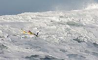 Tyler Smith surfs during the 2008 Mavericks Surf Contest in Half Moon Bay, Calif., Saturday, January 12, 2008.