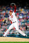 31 March 2011: Washington Nationals pitcher Tyler Clippard on the mound in relief against the Atlanta Braves at Nationals Park in Washington, District of Columbia. The Braves shut out the Nationals 2-0 on Opening Day to start the 2011 Major League Baseball season. Mandatory Credit: Ed Wolfstein Photo