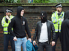 Far right activists protesting outside Regent's Park Mosque in Central London, Great Britain <br /> 3rd April 2015 <br /> <br /> <br /> Members of the English Defence League <br /> <br /> <br /> Photograph by Elliott Franks <br /> Image licensed to Elliott Franks Photography Services