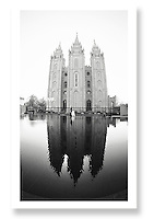 LDS wedding.  Salt Lake City LDS Temple.  Salt Lake City, Utah...Photo © http://gsilvaphoto.com