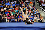 21 APR 2012:  Becky Tutka of the University of Utah performs her floor routine during the Division I Women's Gymnastics Championship held at the Gwinnett Center Arena in Duluth, GA. Joshua Duplechian/NCAA Photos