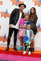 WESTWOOD, CA - OCTOBER 23: Andrew Slyfox, Caspian Slyfox, Jaedyn Skyfox, Hannah Slyfox at the premiere Of 20th Century Fox's 'Trolls' at Regency Village Theatre on October 23, 2016 in Westwood, California. Credit: David Edwards/MediaPunch