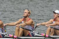 Amsterdam, NETHERLAND, USA BM4X. 2011 FISA U23 World Rowing Championships, Thursday, 21/07/2011 [Mandatory credit:  Intersport Images].