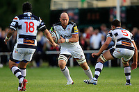 Matt Garvey of Bath Rugby in possession. Pre-season friendly match, between Yorkshire Carnegie and Bath Rugby on August 13, 2016 at Ilkley RFC in Ilkley, England. Photo by: Ian Smith / Onside Images